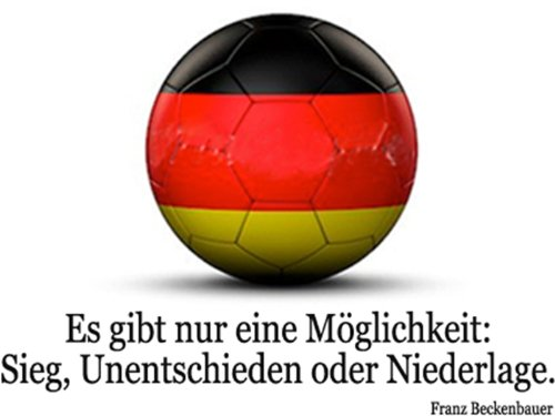 Duni Fußball / WM 2014 Napkins / Servietten Fußballfieber (Franz Beckenbauer: