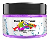 Hair Paint Wax A Splash Of Color - Purple (120 Gram) | Environmentally Friendly Temporary Unisex Natural Hair Paint | Easy To Use and Suitable For Most Hair Types