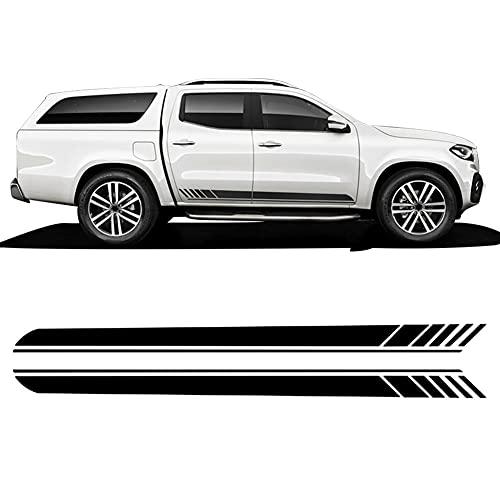 2 uds Edición 1 Falda de Rayas Laterales de Puerta de Coche Calcomanía de Vinilo para carrocería de Carreras, para Mercedes Benz Clase X W470 AMG 2018-Accesorios Actuales