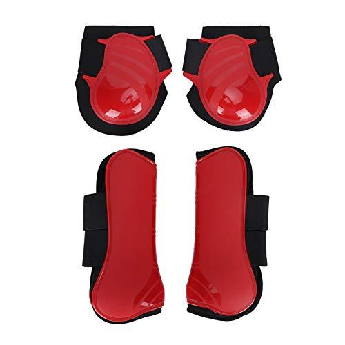 KUIDAMOS Pferdestützstiefel, Pferdegamaschen, PU-Shell-verdicktes Innenpolster aus elastischer Polsterung, elastisches atmungsaktives Wickelkissenpolster(Extra Large)
