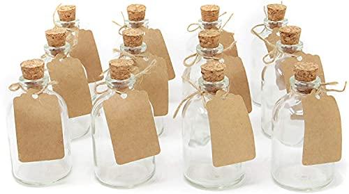casavetro - Juego de 12 jarrones pequeños (filamentos de 50 TR, Botes...