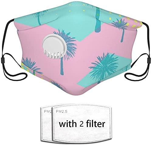 YRUI Patrón geométrico abstracto de palmera reutilización del filtro de seguridad de la máscara puede evitar que el polvo contamine la caspa de mascotas