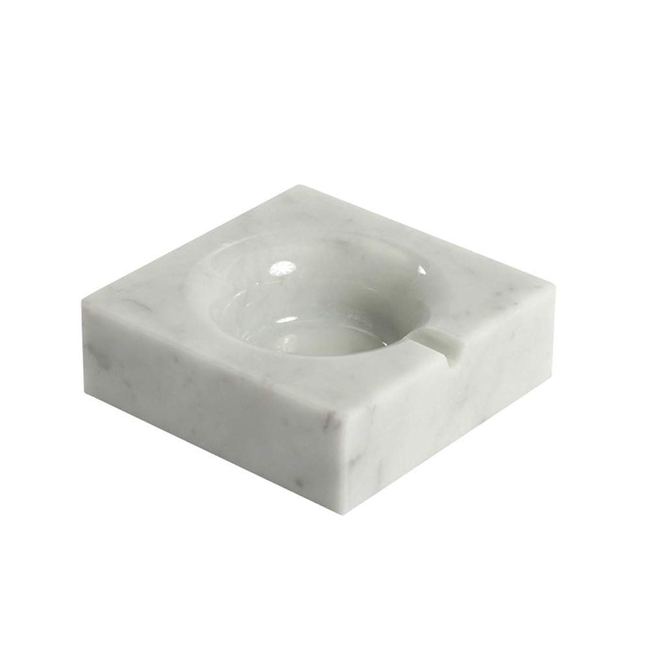 反対チロ娘タバコのための大理石の灰皿創造的な灰皿の家の装飾 (色 : 白)