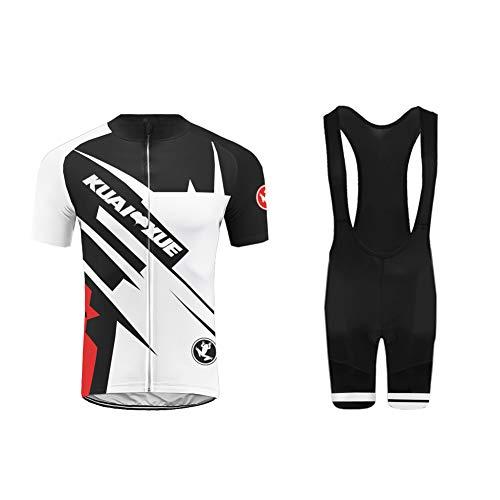 Uglyfrog Wear Radtrikot Herren Fahrradbekleidung Set Outdoor Sports Kurzarm Trikots+ Radfahren Riemen Latzhose Shorts im Sommer