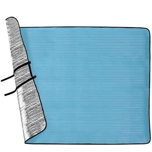 Willard doppelte Alu XXL Alumatte Campingmatte Picknickdecke Thermomatte 190x150cm, der zuverlässige Schutz gegen Hitze, Kälte, Schmutz und Feuchtigkeit