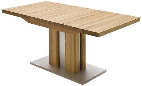 Robas Lund, Tisch, Esszimmertisch, Säulentisch, Bergamo, ausziehbar, Kernbuche/Massivholz, 160(210 )x 77 x 90 cm, BERG18KB