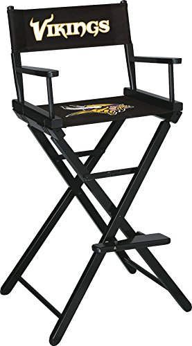 Imperial Officially Licensed NFL Merchandise: Directors Chair (Tall, Bar Height), Minnesota Vikings