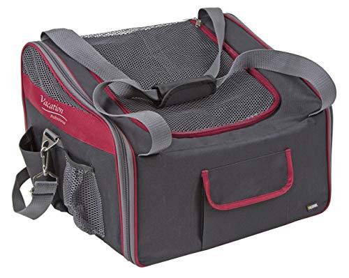 Kerbl 80594 Autositztasche Axion, 41 x 34 x 30 cm, schwarz/rot