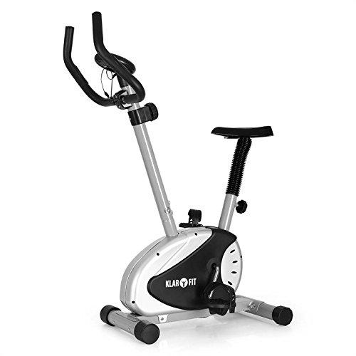 Klarfit Mobi Basic 20 bicicleta estática (dispositivo de entrenamiento con pulsómetro, pantalla de entrenamiento, 8 niveles de resistencia, sillín ajustable,...