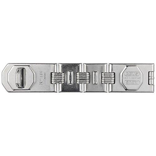 ABUS Gelenk-Überfalle 110/230 - Vorrichtung für Vorhängeschlösser - für aufschlagende Türen und Ecklösungen - 01483 - Level 8 - Silberfarben