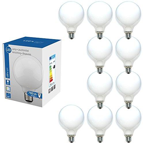 LED 360° Globe Glühbirne G120 10W = 60W E27 matt Opal 790lm Glühlampe Sparlampe warmweiß 2700K (10)