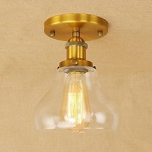 Lumières pendentif pendentif Retro lampe lanterne pays voitureactéristique électrolytique pour l'ampoule d'Edison Designers Style Mini Metal Salon Chambre Salle à hommeger,étude,Laiton 110-240V