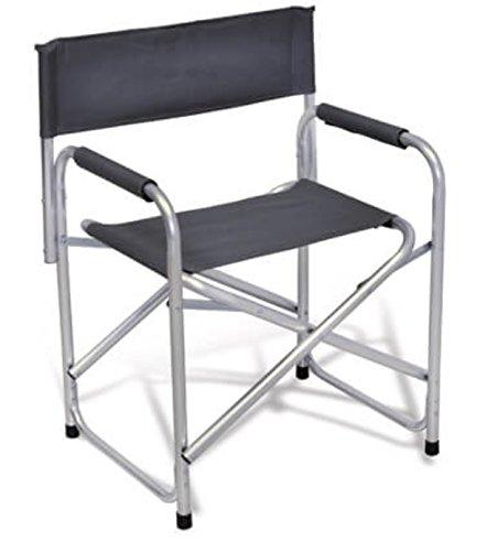 Beaver Brand Sessel klappbar Regisseur Typ Erste in Aluminium und Stoff in Textilene grau–ideal für Camping