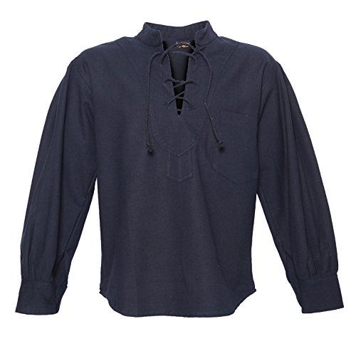 KUNST UND MAGIE Alternatives Herrenhemd, Farbe:Black/Schwarz, Größe:L