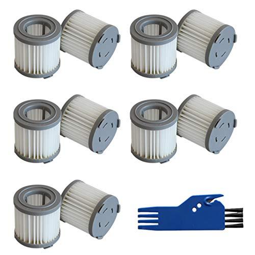 Camisin 10 piezas de filtro HEPA de repuesto para aspiradora JIMMY JV51 JV71 CJ53 C53T CP31 y 1 cepillo limpio de mano inalámbrico