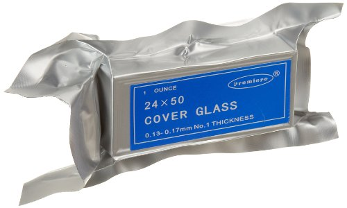 Premiere 94-2450 Cover Glass, 24 x 50mm Size, No. 1 Thickness (10oz.)