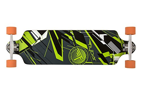 """Flybar Skate Twin Tip Longboard Skateboards - Glitch – 38"""" x 10.3"""" Strong & Lightweight 8 Ply Canadian Maple Skate Board, 70mm 82A PU Wheels with ABEC 9 Bearings"""