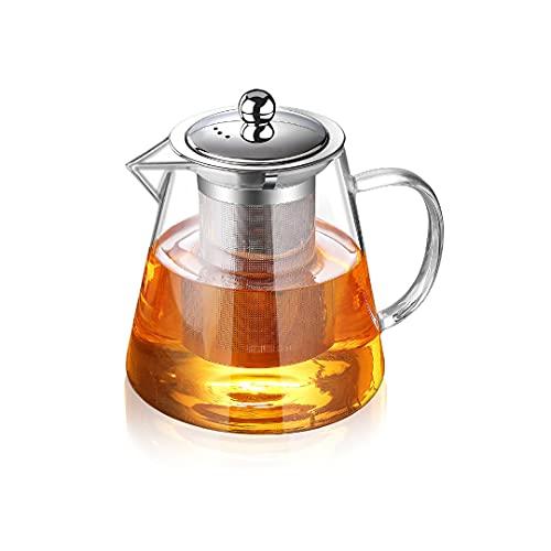 Glass Teapot with Infuser Tea Pot 32oz/43oz Tea Kettle Stovetop Safe Blooming and Loose Leaf Tea Maker Set (32oz/ 950ml)