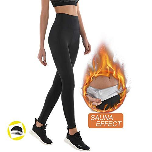 Pantalon de Sudation, Legging de Sport Femme Fitness à Taille Haute - Legging Anti Cellulite...