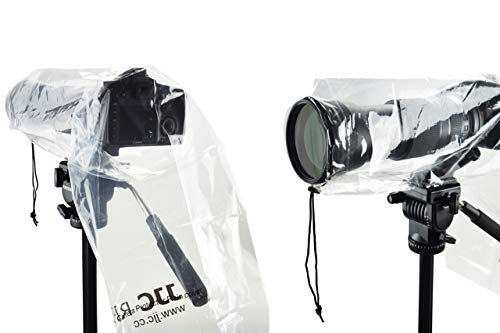 Timetrends24/JJC - Copertura universale antipioggia per fotocamere reflex, 2 articoli