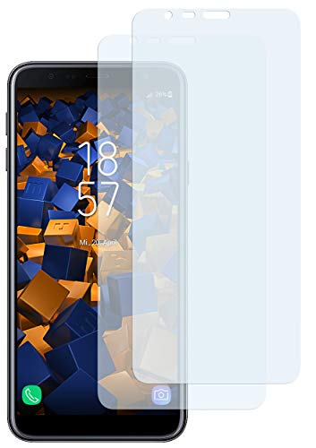 mumbi Schutzfolie kompatibel mit Samsung Galaxy J4+ Folie klar, Bildschirmschutzfolie (2X)