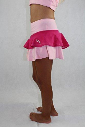 EMZA Tennisröcke Mädchen (Rosa+Cyclamen, Größe: 116-122/ Alter: 5-7 Jahre)