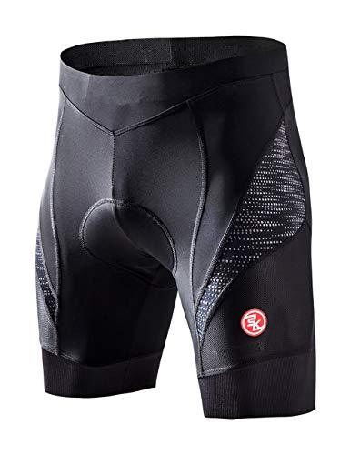 Souke Sports Herren 4D Gepolsterte Radlerhose Atmungsaktiv Schnelltrocknend Fahrradhose, XL