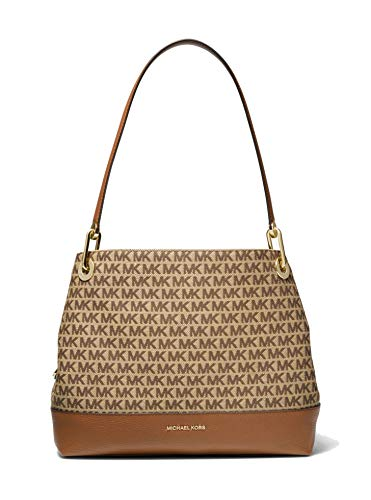 MICHAEL Michael Kors Raven Large Shoulder Tote Beige/Ebony One Size
