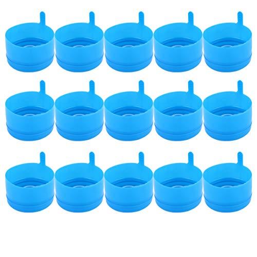BESPORTBLE - 25 tapas para jarra de agua, 5 galones, cierre de botella de agua, repuesto, sin derrames, tapones para dispensador de agua en casa
