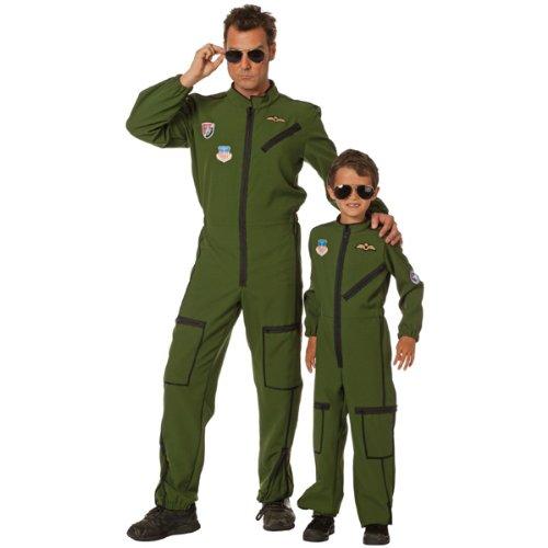 PARTY DISCOUNT NEU Herren-Kostüm Jet Pilot, grün Gr. 50-52