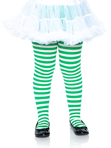 Leg Avenue 4710 - Rayado medias, tamaño: M, blanco / verde verde , color/modelo surtido