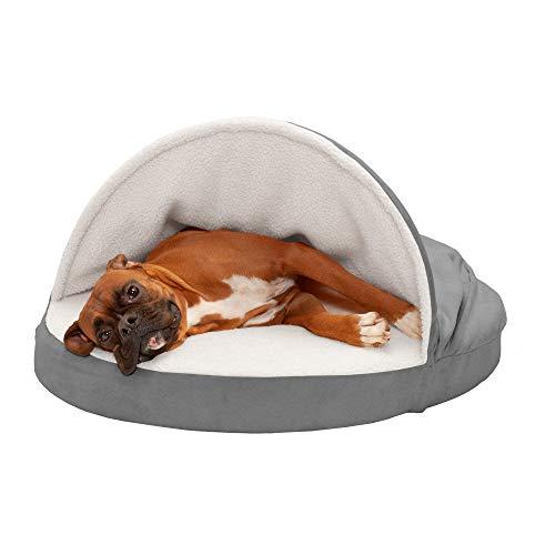 Furhaven Pet Dog Bed - Memory Foam Round...