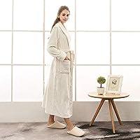 ホームライフ女性のための長い冬のローブ男性暖かいフランネルバスローブ柔らかい女性の着物ドレッシングガウン結婚式の男性白XXXL