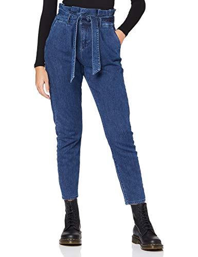 ONLY Damen ONLPOPTRASH Paperbag DNM Jeans, Medium Blue Denim, S / 32L