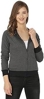 Campus Sutra Women Printed Zipper Sweatshirt