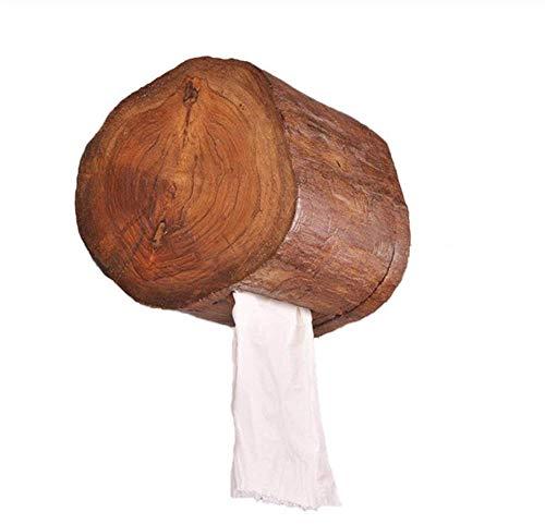 Portarollos Baño Dispensadores de papel higiénico Caja De Pañuelos De Habitación De Hotel De Madera Casera De La Vendimia Soporte De Rollo De Baño Soporte De Papel De Cocina De Baño