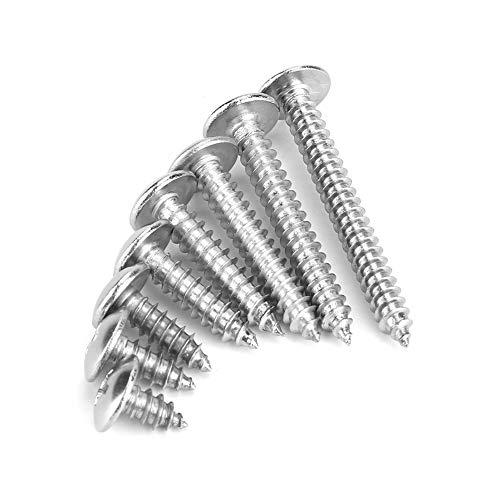 Schrauben, 200 Stück M4 Edelstahl Schrauben Cross Drive Truss Kopf selbstschneidende Schrauben Kits für Maschinen-Holzbearbeitung Fastener