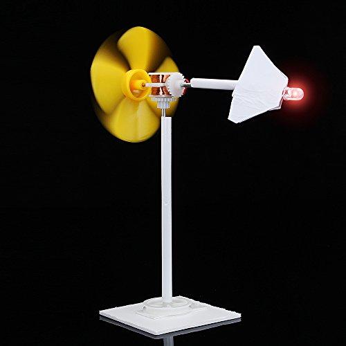 EsportsMJJ Bricolaje Micro Viento Motor Turbina Eólica Energía Eléctrica Generador Blades Modelo Auto-Hecho Ciencia