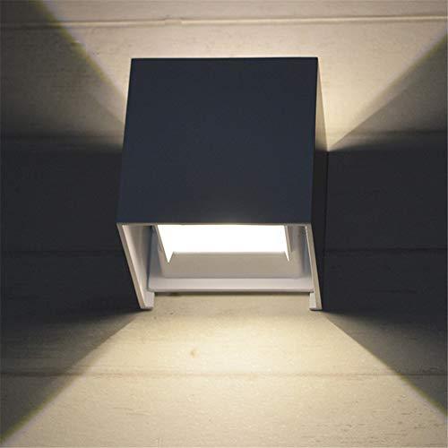 LED wandlamp groothandel quadrat-Hof-gang balkon nachtslaapkamer hotel-project buiten impregneren warm aluminium licht buiten 12W