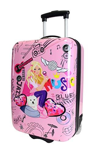 Frentree Cool Girls Mädchen Kinder Trolley Hartschalen   Handgepäck Reisekoffer, Farbe:pink