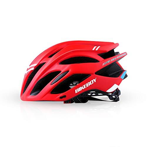 Zeroall Casco de Bicicleta para Hombre Mujer Ligero Ajustable Casco de Ciclo Cascos de Ciclismo para Bicicleta Patineta Scooter(Rojo)