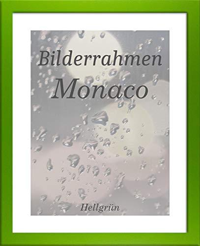 Homedeco-24 Monaco MDF Bilderrahmen ohne Rundungen 42 x 59 cm Größe wählbar 59 x 42 cm Grün mit Acrylglas Antireflex Spiegelfrei 1 mm
