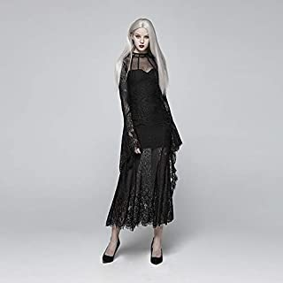 Black Dresses for Women, Neo-Gothic Long Black Dresses for Women, Long-Sleeved Lace Black Dress for Women for Christmas Prom Sexy Dress Christmas Costume Ball Gown