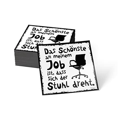 how about tee? Magnet-Sticker: Das Schönste an Meinem Job ist. - Kühlschrankmagnet mit Spruch