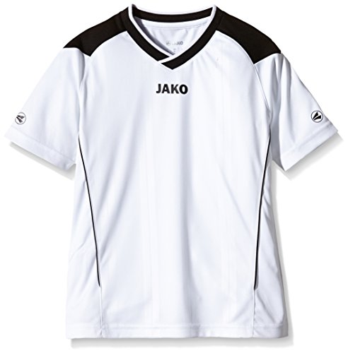 JAKO Kinder Fußballtrikots Copa KA, Weiß/Schwarz, 152