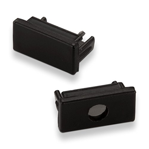 Endkappenset für SO-TECH® Led Aufbau - Profil-11 schwarz