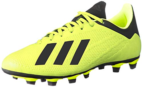 adidas X 18.4 FG, Zapatillas de Fútbol para Hombre, Amarillo (Solar Yellow/Core Black/Footwear White 0), 41 1/3 EU