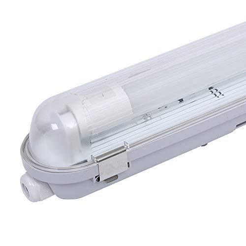 10 lámparas LED para bañera, IP65, 150 cm, 4000 K, incluye tubos LED Samsung de 24 W, clips de acero inoxidable