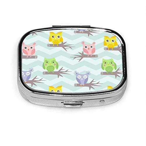 Farbe Fisch Abstraktes Muster Benutzerdefinierte Mode Silber Quadrat Pille Box Medizin Tablettenhalter Brieftasche Organizer Fall für Tasche oder Geldbörse Vitamin Organizer Halter Dekorative Box