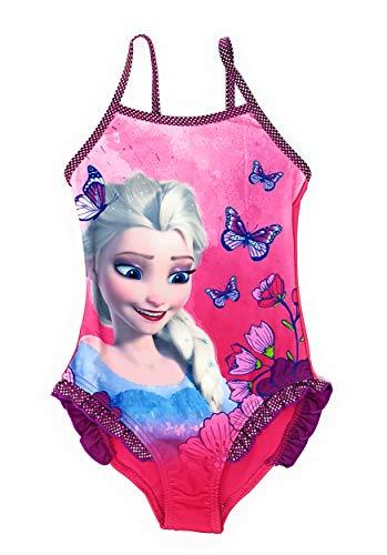 Die Eiskönigin - Frozen Mädchen Badeanzug Bademode (Lila, 6-8 Jahre (Größe 128))
